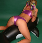 Blonde Babe Rides Her Blowup Penguin - Picture 6