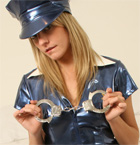 A Babe Dressed As A Naughty Police Officer - Picture 2