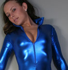 Hot Fetish Babe In Tight Blue - Picture 1