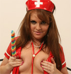 Red Vinyl Nurse To Take Care Of Your Needs - Picture 5