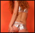 Tight Shiny Silver Outfit - Picture 4
